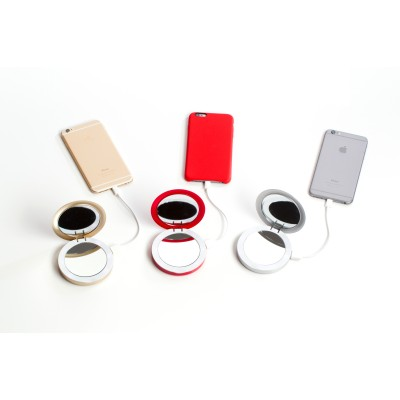 Pearl: Compact Mirror + USB Battery Pack 3000mAh