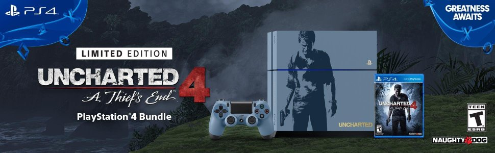 uncharted 4 ps4 console limited edition in Qatar